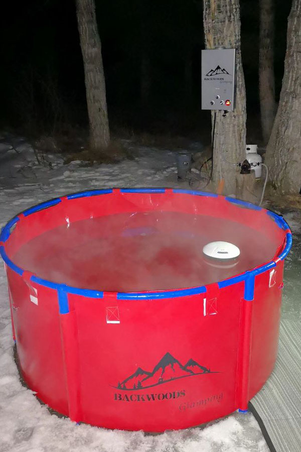 Camping Hot Tub Red